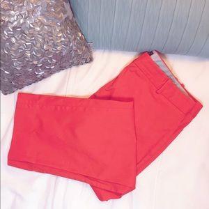 Talbots 12 Capri pant in bright orange/papaya